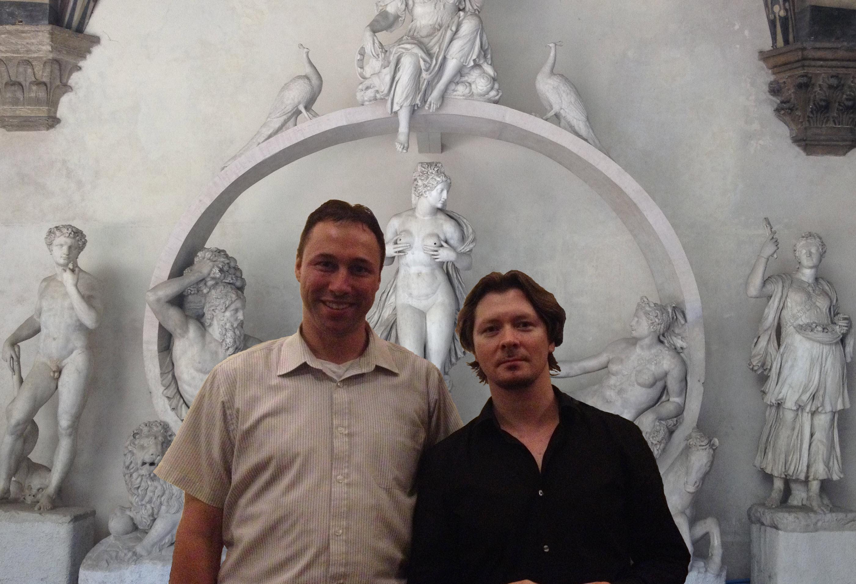 Michael Rösch und Sergei Nakariakov in Florenz 2014